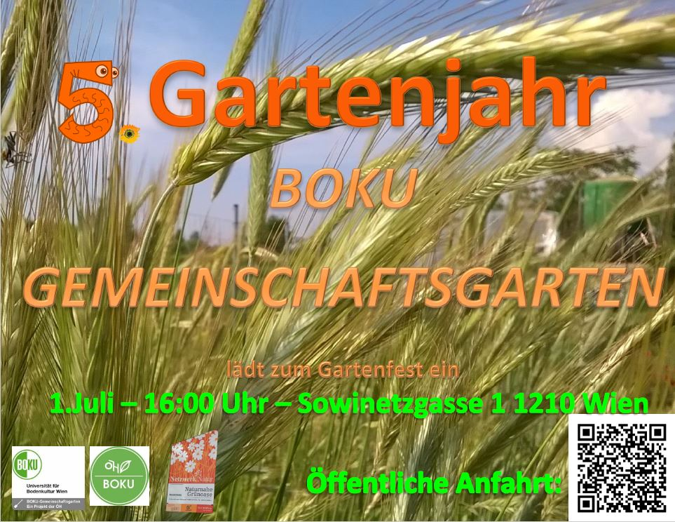 Einladung Gartenfest - BOKU Gemeinschaftsgarten